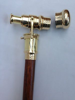 Victorian telescope #walking #stick brass cane #wooden  nautical marine   - gift,  View more on the LINK: http://www.zeppy.io/product/gb/2/281845369922/