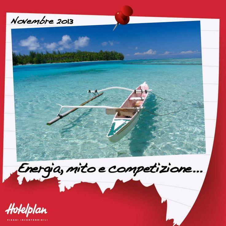 """La """"va'a"""", tradizionale canoa polinesiana, è protagonista dal 6 all'8 novembre della """"Hawaiki Nui Va'a"""": una gara che coniuga spettacolo e tradizione nelle acque cristalline di Tahiti e delle sue isole. Oltre 100 equipaggi si sfideranno in un percorso tra Huahine, Raiatea, Taha'a e Bora Bora seguendo le rotte degli antichi Maohi. Li raggiungiamo al traguardo sulla splendida spiaggia di Matira Point?"""
