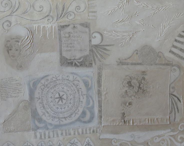 """""""Nella meraviglia della vita"""" tecnica mista su tela, cm 80x100 #cristianabrondi"""