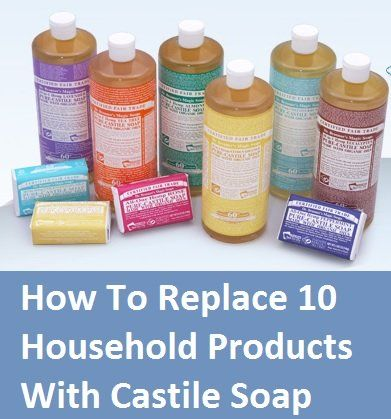 Castile soap to replace cleaners
