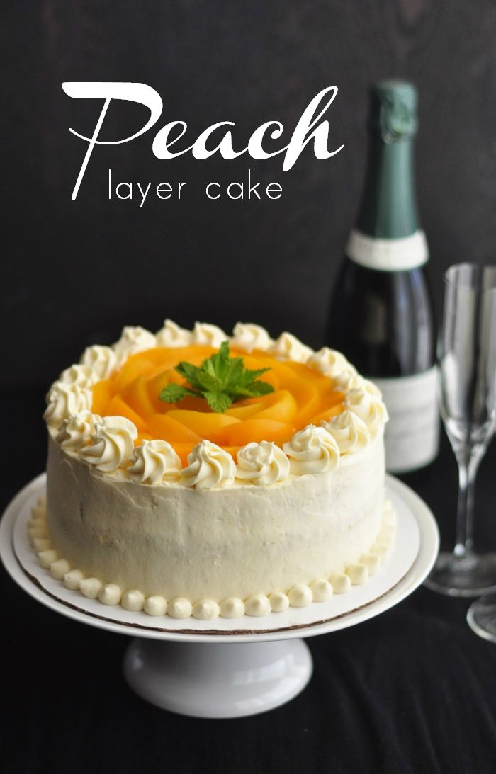 Very Peach Peach Layer Cake, out of season. Because sometimes peoples' special birthdays don't coincide with the right season. #cake #recipe