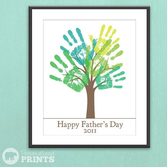 comfortable shoes Fathers Day Last Minute Gift  DIY Child39s Handprint Tree  Printable