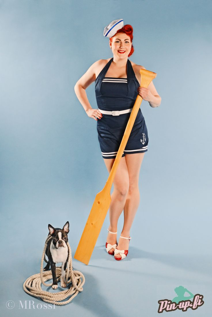 www.pin-up.fi Photo: MRossi - Pets & People Photography http://www.mrossi.fi/wp/ Make-up and hair: Katharine De Adore Playsuit: Hell Bunny via Muotiputiikki Helmi Shoes: Lola Ramona via Muotiputiikki Helmi Boston terrier Daisy