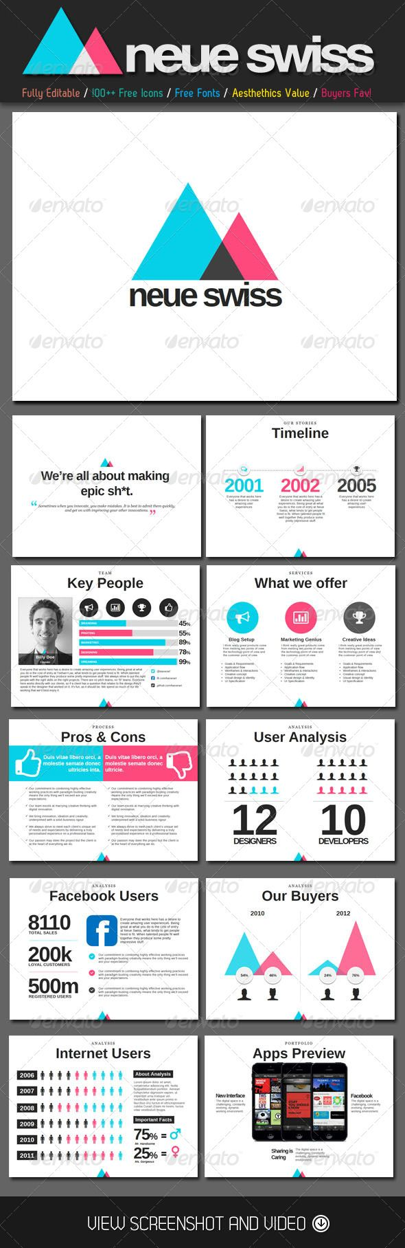 GraphicRiver Neue Swiss Style PowerPoint Template 4583663