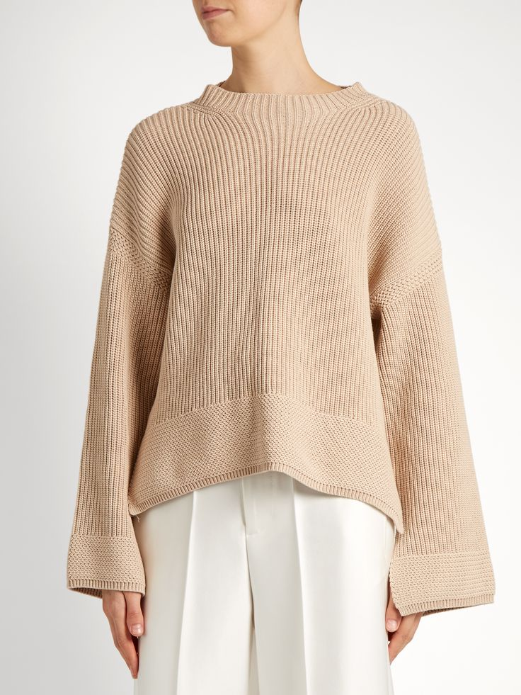 Aimee split-hem cotton-blend sweater | Elizabeth And James | MATCHESFASHION.COM