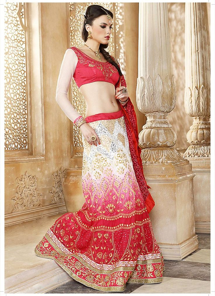 White Color Beautiful A Line Lehenga Style This attire is nicely made with Lace & Butta Work work.