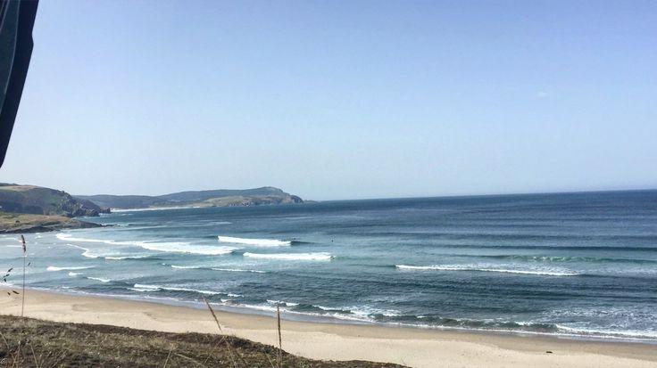 Morning waves, Nemiña, Spain