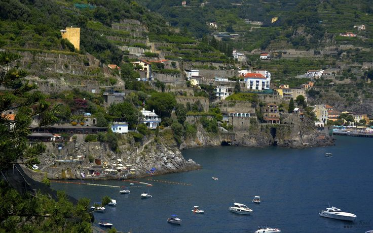 This is my kind of view – the rugged coastline by the blue sea.  This was taken during a drive alongside the Amalfi Coast in Italy.