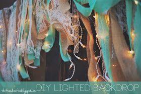 Thrift and Craft It: DIY Wedding Backdrop