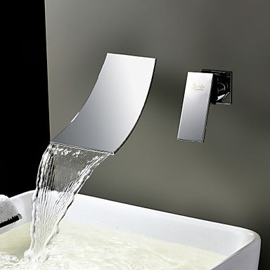 Sprinkle® by Lightinthebox - Waterfall Widespread Contemporary Bathroom Sink Faucet (Chrome Finish) – USD $ 53.99