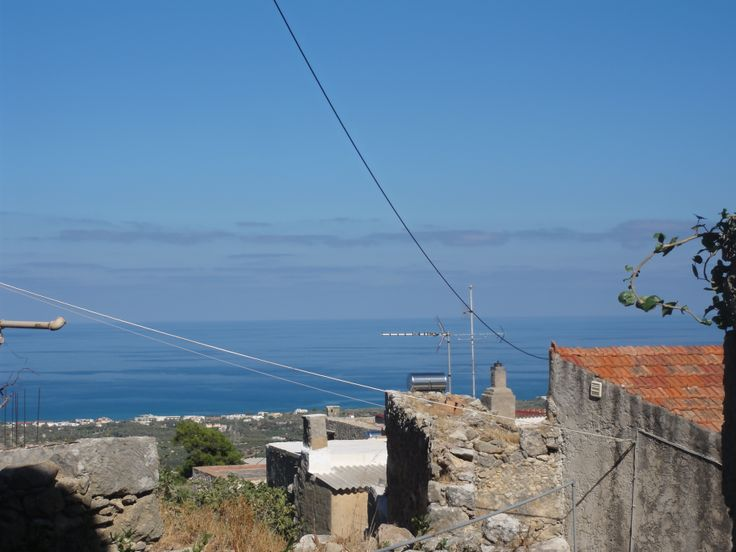 view from traditional villa of maroulas village