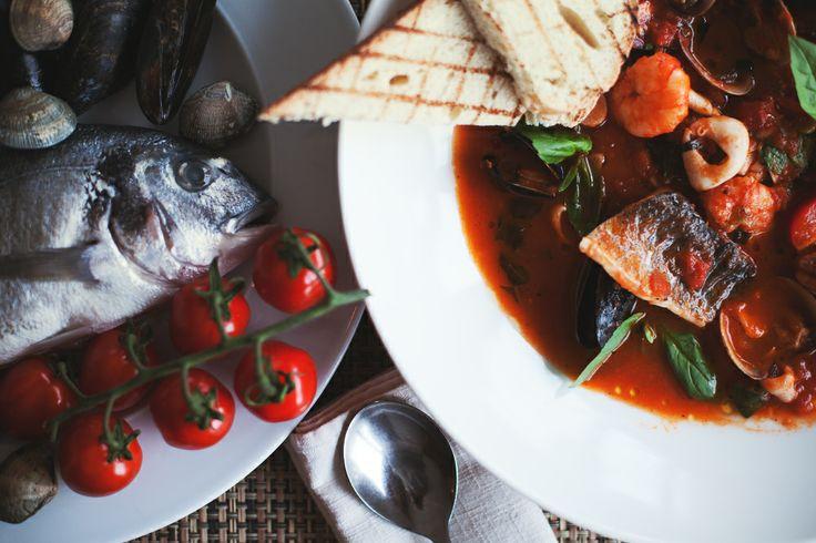 #food #ginzaproject #terrassa #restaurant #terrassa #yummi #soup #fish #seafood #tomato