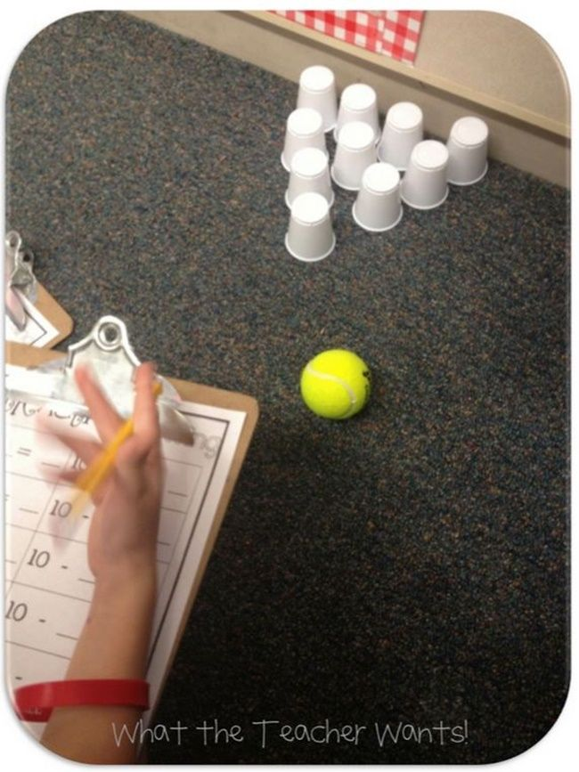 Bowling Fun: Subtraction from 10: #activity #firstgrade #freedownload #game #math #printable