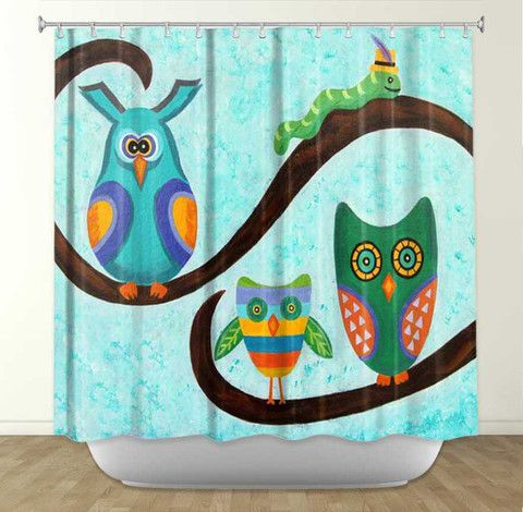 DiaNoche Designs Birds Of A Feather By Gwen Meades Fabric Shower Curtain