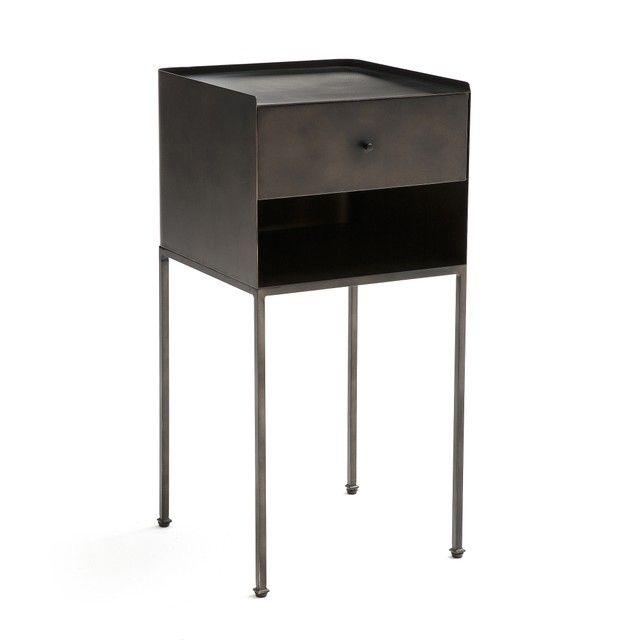 Yazdan Metal Bedside Table Home Furnishing Accessories Drawer