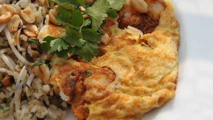 Omelet med stegte ris