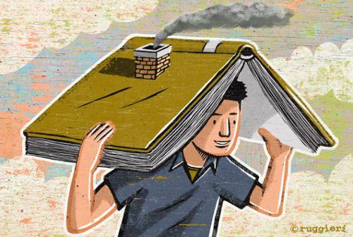 The book, my house / El libro, mi casa (ilustración de Alberto Ruggieri)