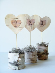 Wedding Table Numbers - Wedding Decorations -
