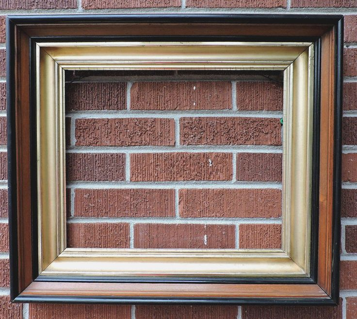 antique victorian heavy walnut gilt gold deep well picture frame 14 x 17 c1880s victorian