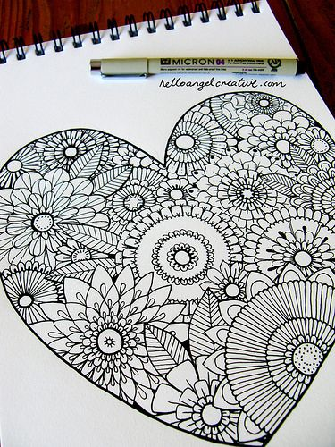 zentangle - i want this in a bird