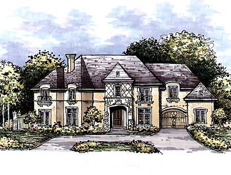 Plan 15309hn european manor home plan luxury house for European manor house plans