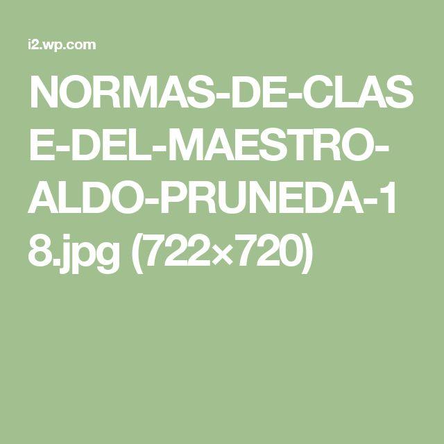 NORMAS-DE-CLASE-DEL-MAESTRO-ALDO-PRUNEDA-18.jpg (722×720)