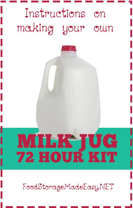 How to Make a 72 Hour Kit in a MILK JUG |  @ Food Storage Made Easy