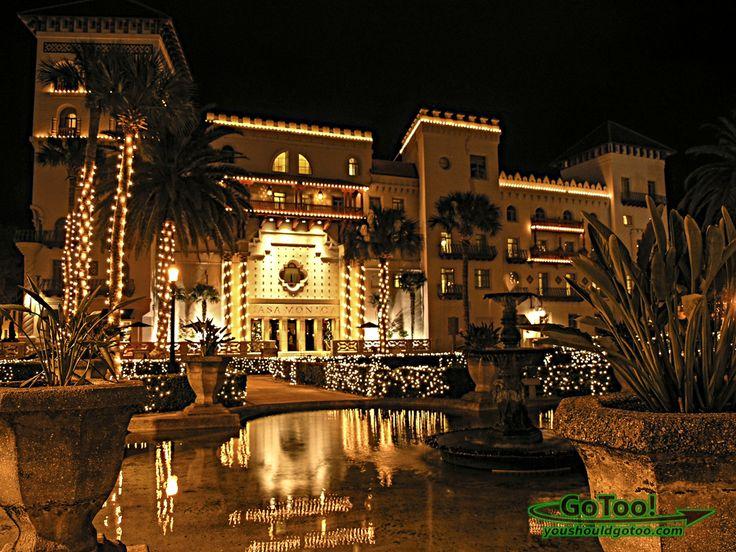 Casa Monica Hotel Nights Of Lights St Augustine Fl St Augustine Historic Hotels Island Resort