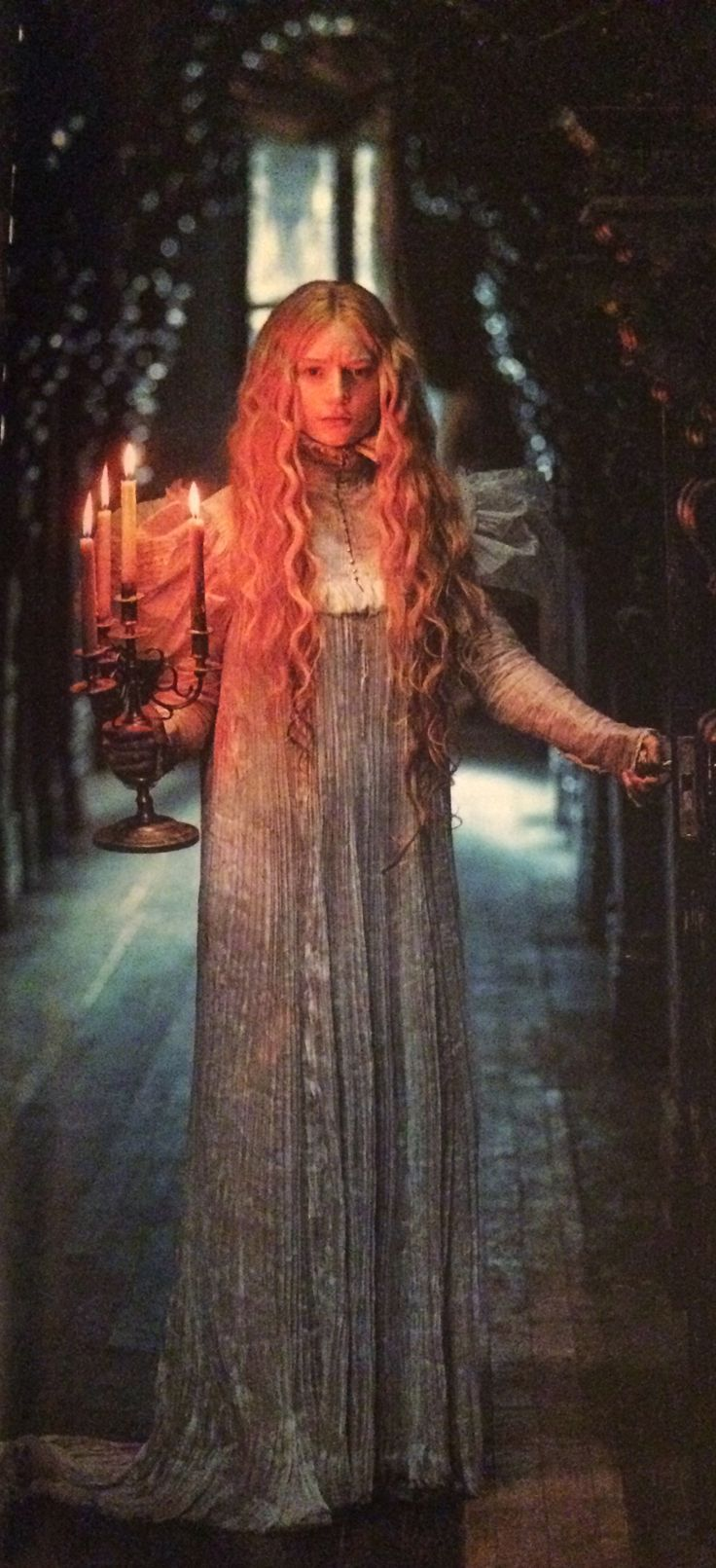 Mia Wasikowska as Edith Cushing in 'Crimson Peak' (2015). Costume Designer: Kate Hawley