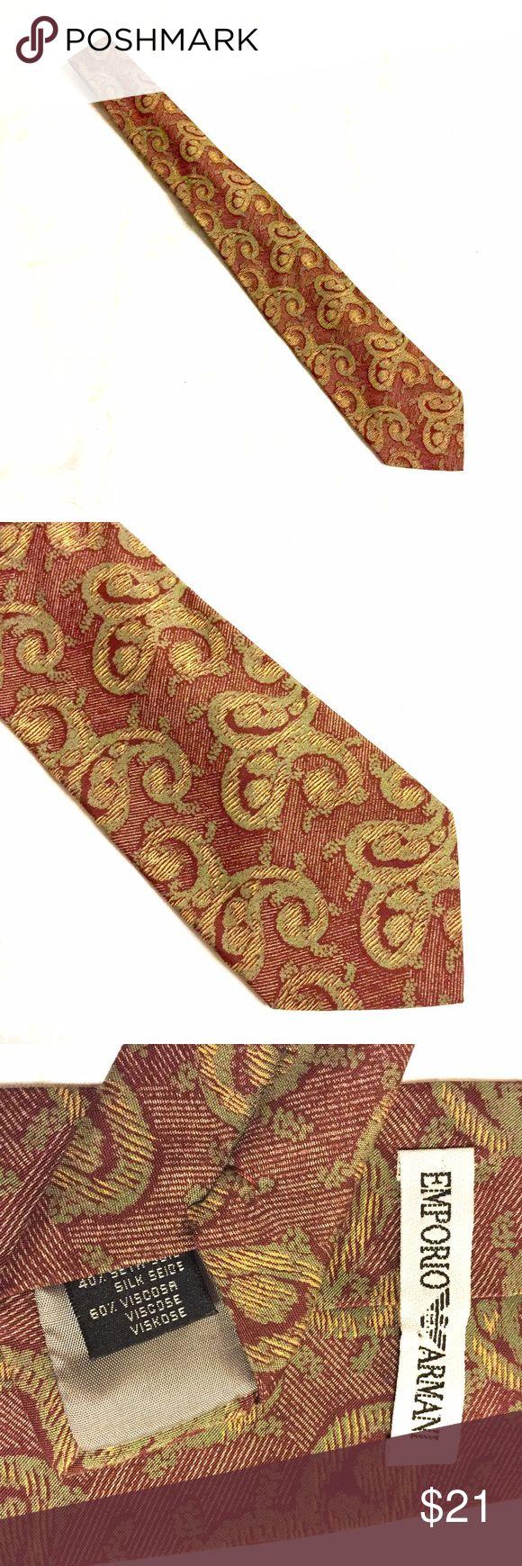 Emporio Armani Silk And Viscose Necktie 👔 Emporio Armani Necktie in good condition. Emporio Armani Accessories Ties
