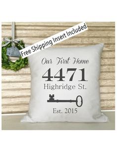 The perfect gift for the new home owner.  You may change it to OUR NEW HOME - HOME SWEET HOME, if youd like. Just leave me a message during