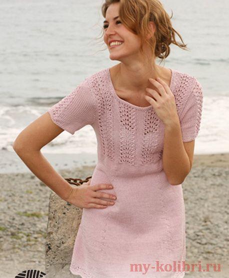 Платье спицами с ажурными дорожками на кокетке http://my-kolibri.ru/vyazanie-dlya-zhenshhin/platya-tuniki-sarafanyi/plat-e-spitsami-s-azhurny-mi-dorozhkami-na-koketke/