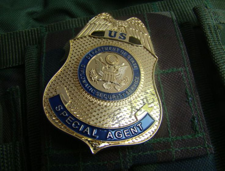 US Department Of State Diplomatic Security Service Special Agent replica badge. To purchase this replica badge, just click on the picture.