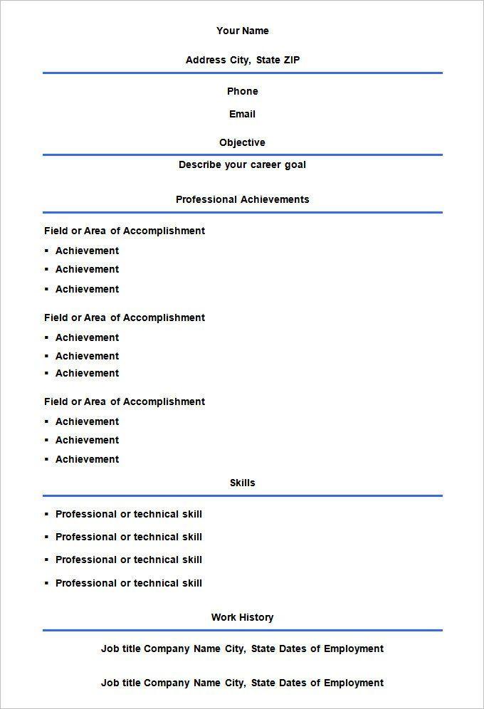 Rezultat S Izobrazhenie Za Cv Format Empty Free Printable Resume Resume Template Downloadable Resume Template