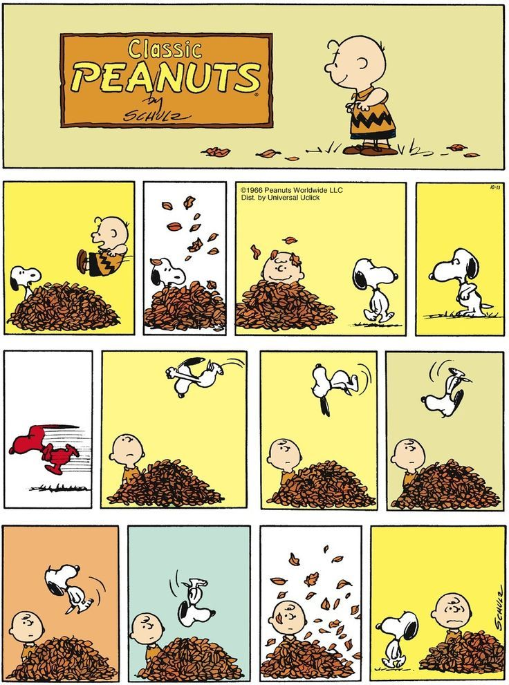 Peanuts cartoon strip