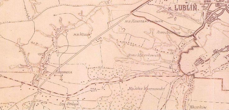 Mapa 1938 r. Rury