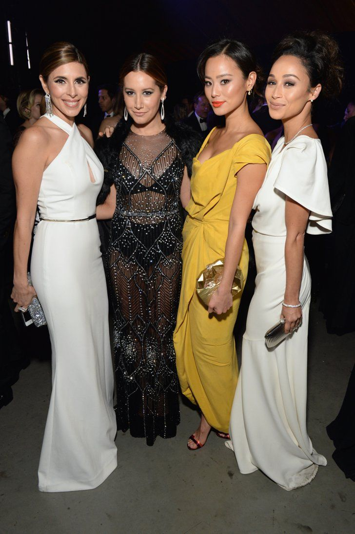 Pin for Later: See How the Stars Are Kicking Off Golden Globes Weekend!  Pictured: Ashley Tisdale, Jamie-Lynn Sigler, Jamie Chung, and Cara Santana