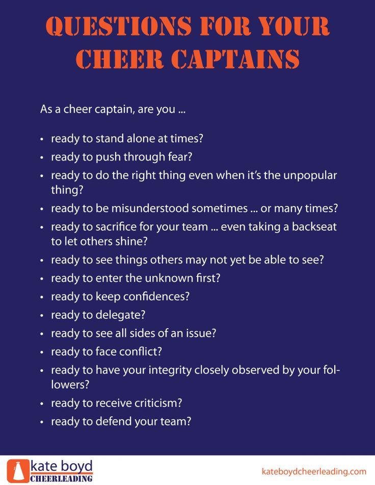 How to Choose Your Cheer Captain, Part 2 | Kate Boyd