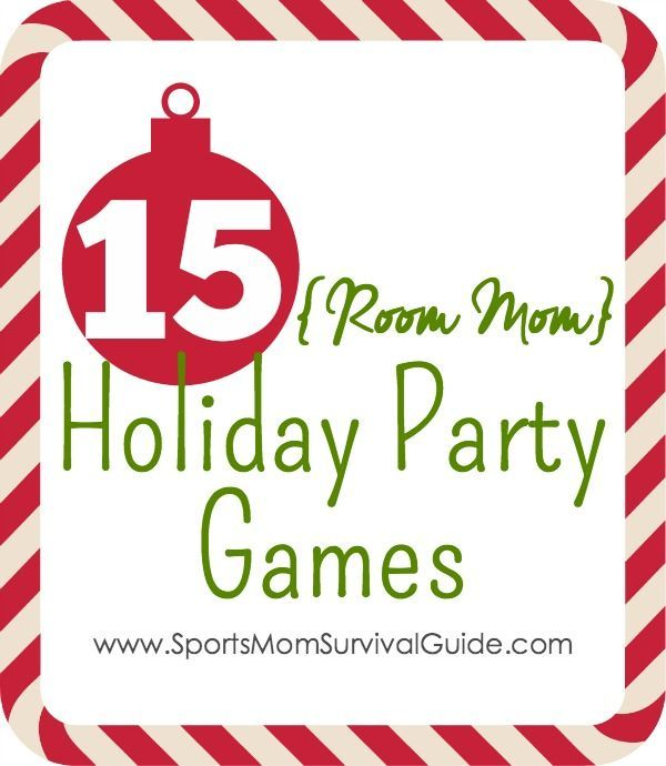 "If you've ever been a room mom, then you know your big ""time to shine "" (and most stressful job) are the parties.  Here are 15 Room Mom Holiday Party Game that the kids are sure to love!"