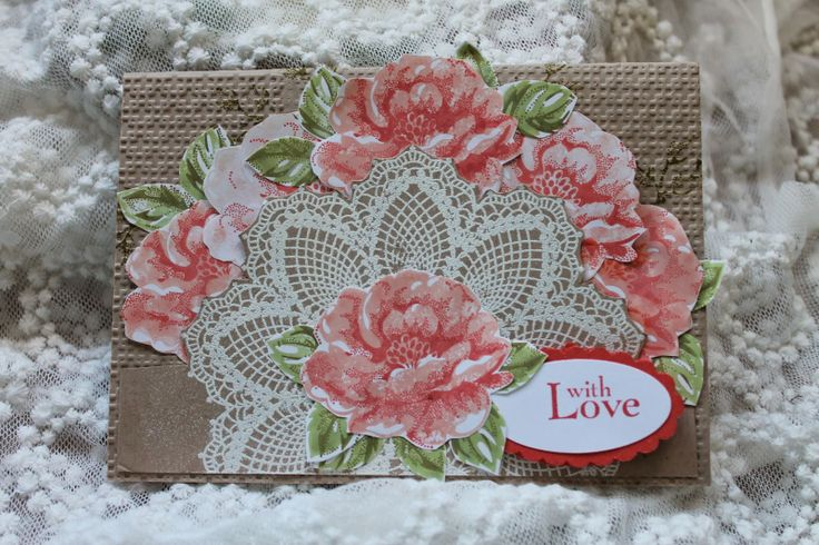 Wendys World of Stampin Up Here: With Love Stampin' Up Card Stipple Blossoms