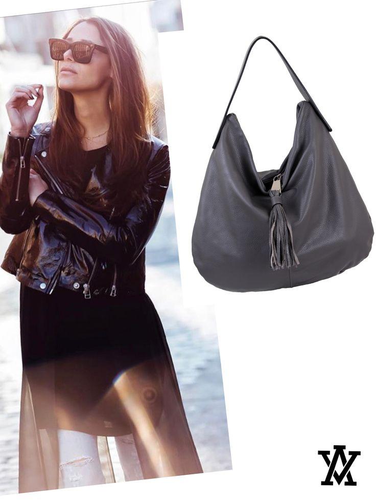 Italian leather bags code: ROMA grey  shoponline: www.adelevivian.com