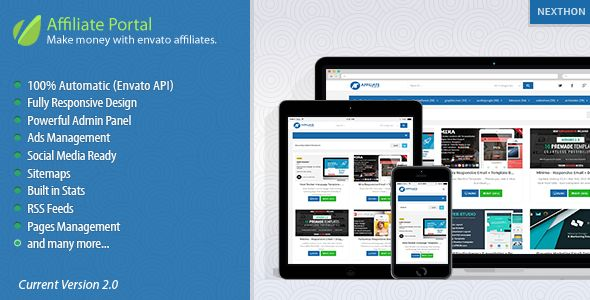 Envato Affiliate Portal script lets you earn money very easily. The script has very friendly...