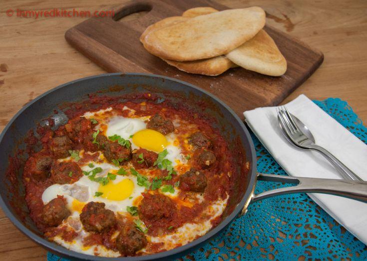 Marokkaanse gehaktballetjes met ei - in my Red Kitchen Jammie! Zelfs vriend lustte het!