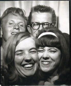 Double date? Old photo booth pictures