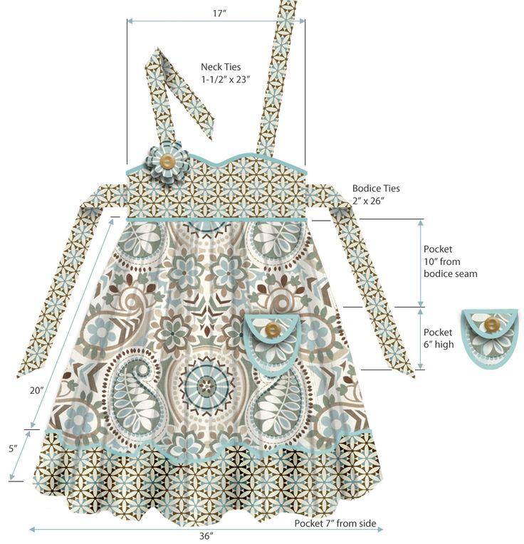 Empire Waist Apron in Wonderful Waverly Fabrics   Sew4Home