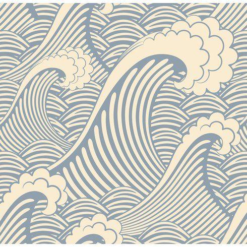 "Brayden Studio Stier 8' x 20"" Waves of Chic Scenic"