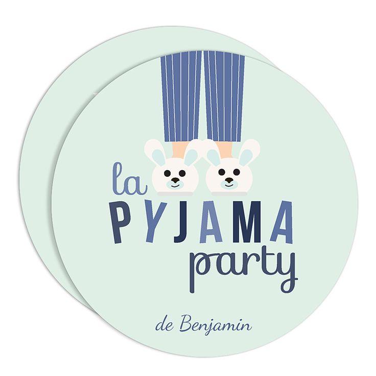 Carte Invitation Pyjama Party Soirée Pyjama à Imprimer Gratuite