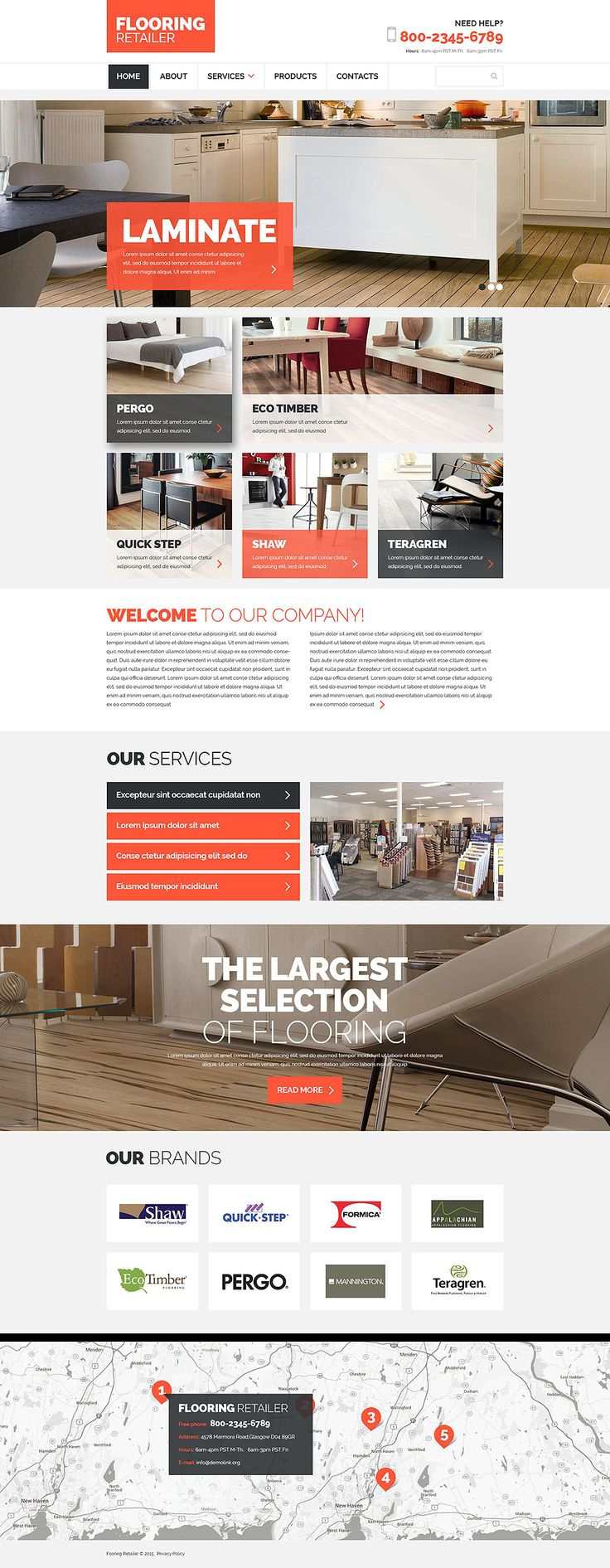 Flooring Responsive Best Website Template 2015