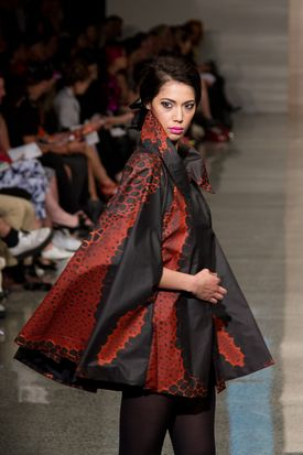 Local fashion designer Leilani Rickard rocks Auckland Fashion Week 2013. (from the Daily Post)