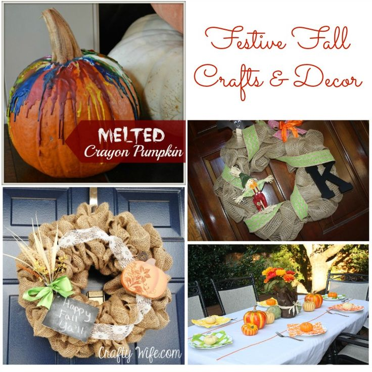 Festive Fall Crafts and Decor: Here is a great list of some festive fall crafts and decor from some southern bloggers.